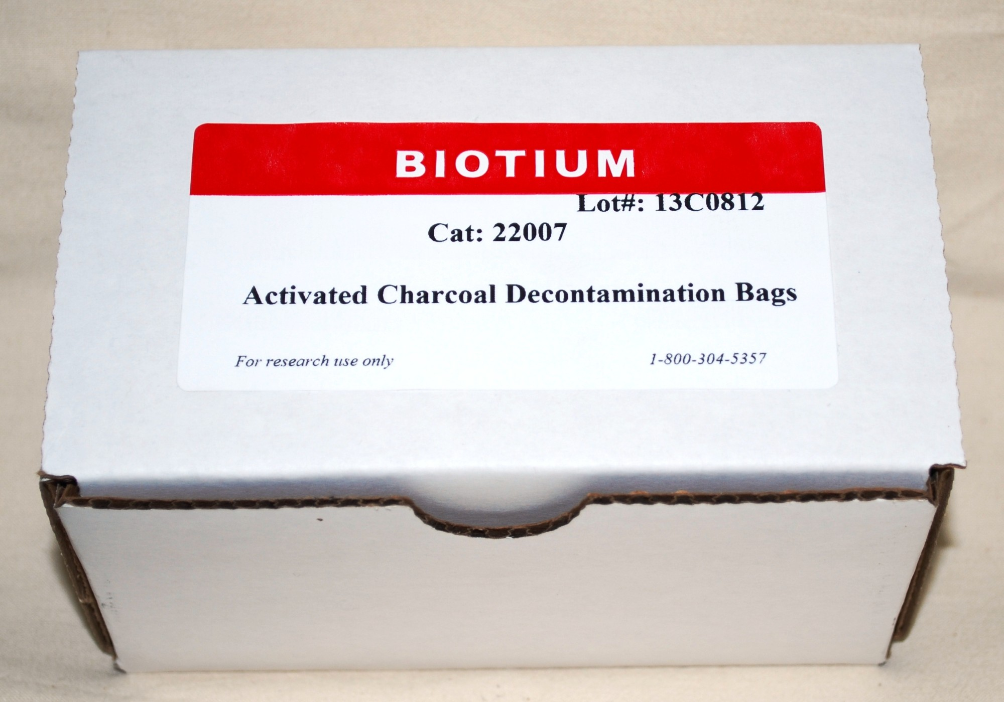 22007  Activated Charcoal Decontamination Bags